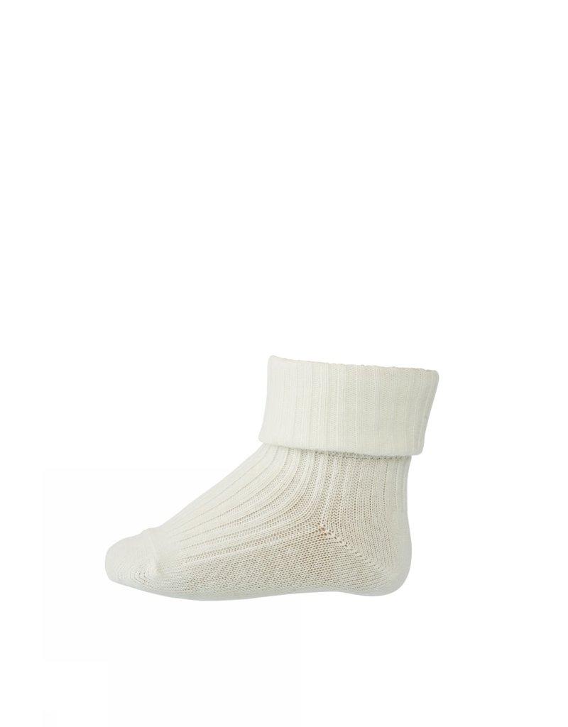 mp Denmark Cotton Rib Baby Socks White