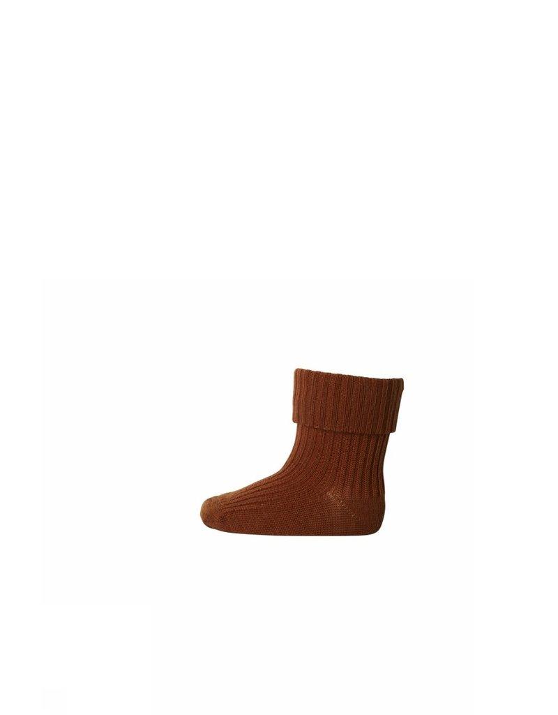 mp Denmark Baby Socks Brown Wool 19/21