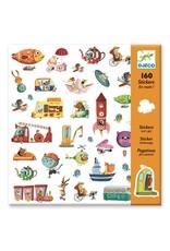 Djeco 160 Stickers Voertuigen