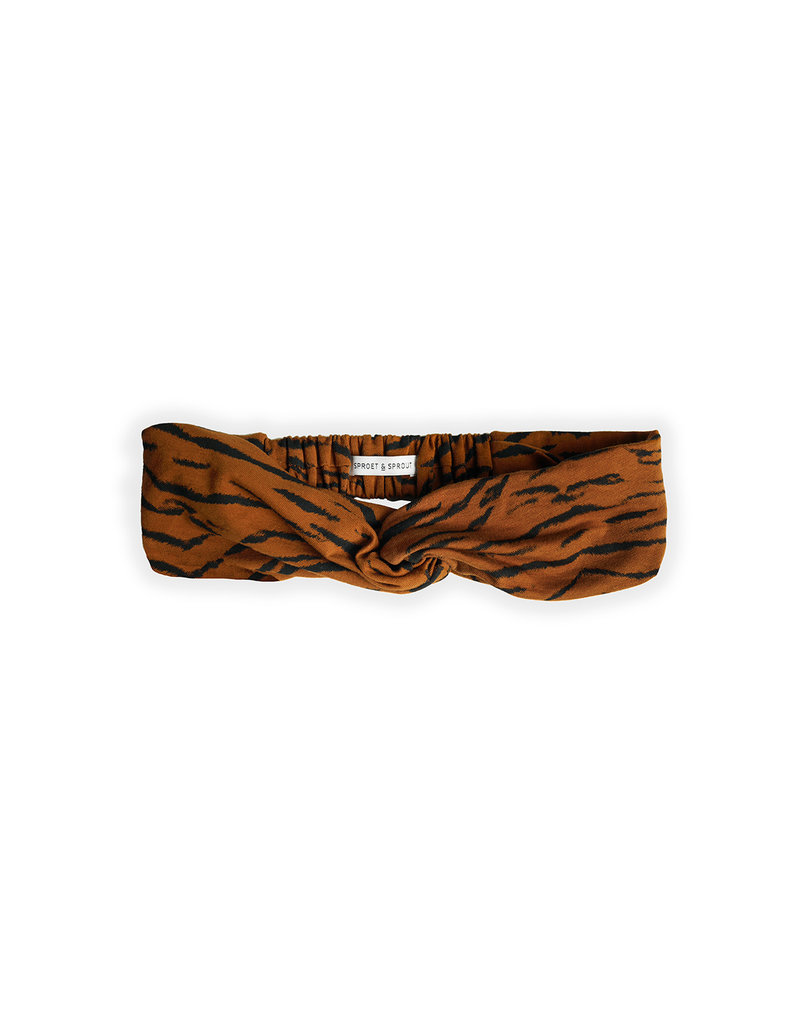 Sproet & Sprout Turban headband Tiger