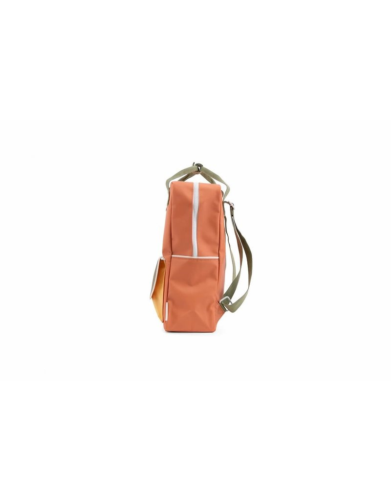 Sticky Lemon Backpack large faded orange + seventies green + retro yellow
