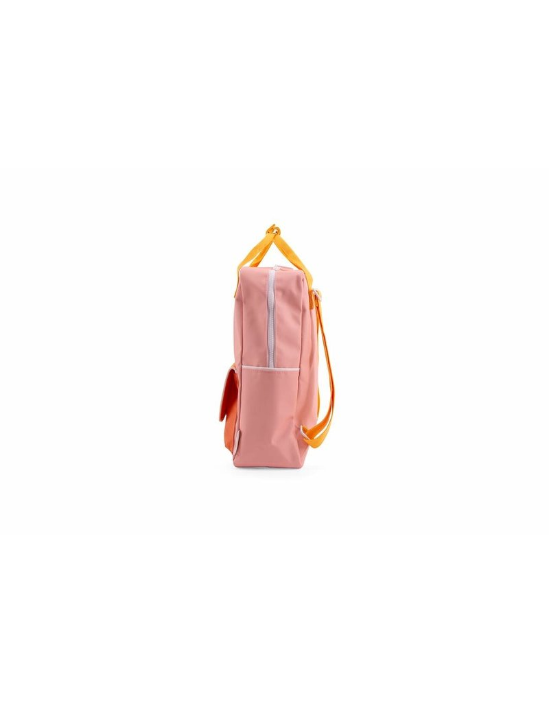 Sticky Lemon Backpack large candy pink + sunny yellow + carrot orange