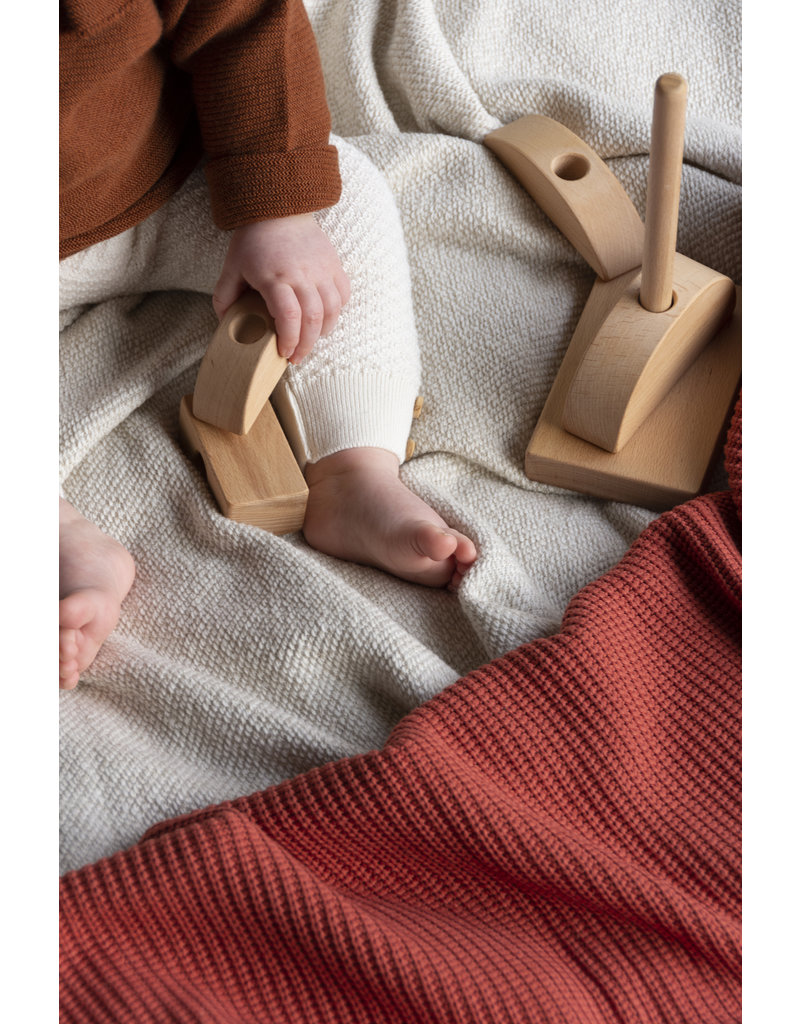 Nanami Knitted Blanket Cot Rust