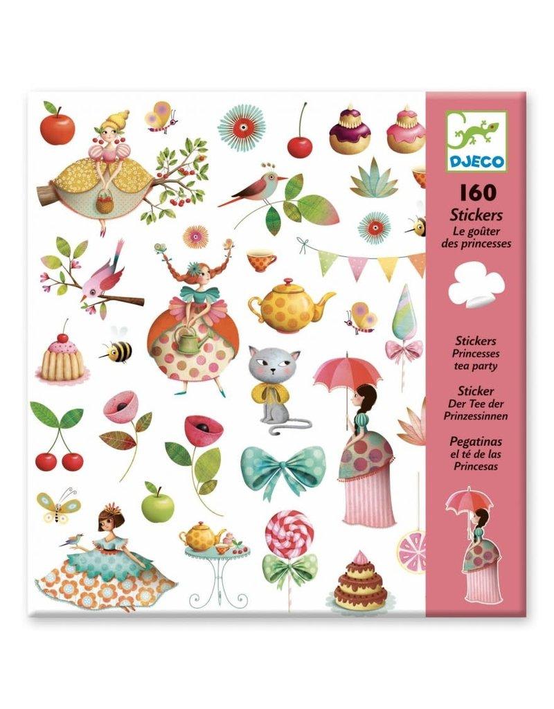 Djeco 160 Stickers theekransje princessen