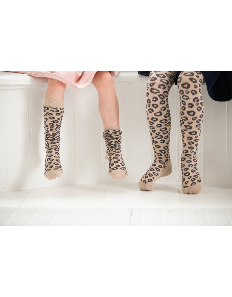 House of Jamie Tights Caramel Leopard