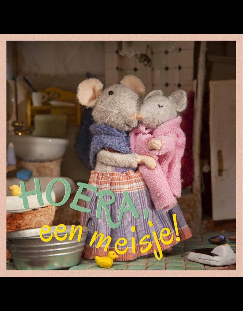 Het Muizenhuis Wenskaart - Hoera een meisje!