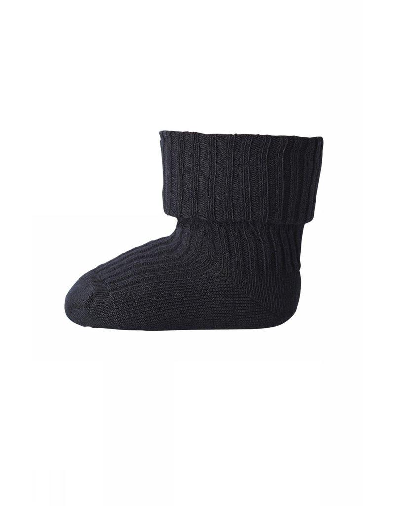 mp Denmark Cotton Rib Baby Socks Black 8