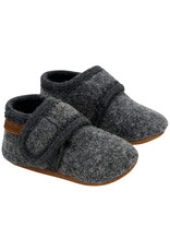 En Fant Wool Slippers Dark Grey Melange