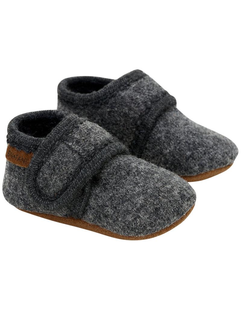 En Fant Wool Sloffen Dark Grey Melange