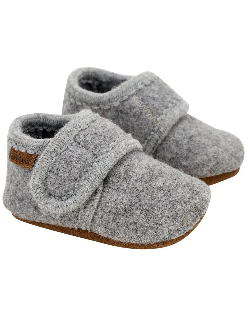 En Fant Wool Sloffen Grey Melange