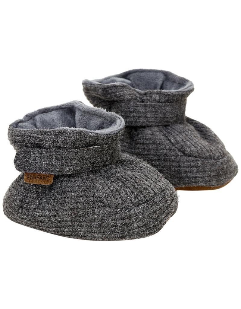 En Fant Baby Slippers Dark Grey Melange