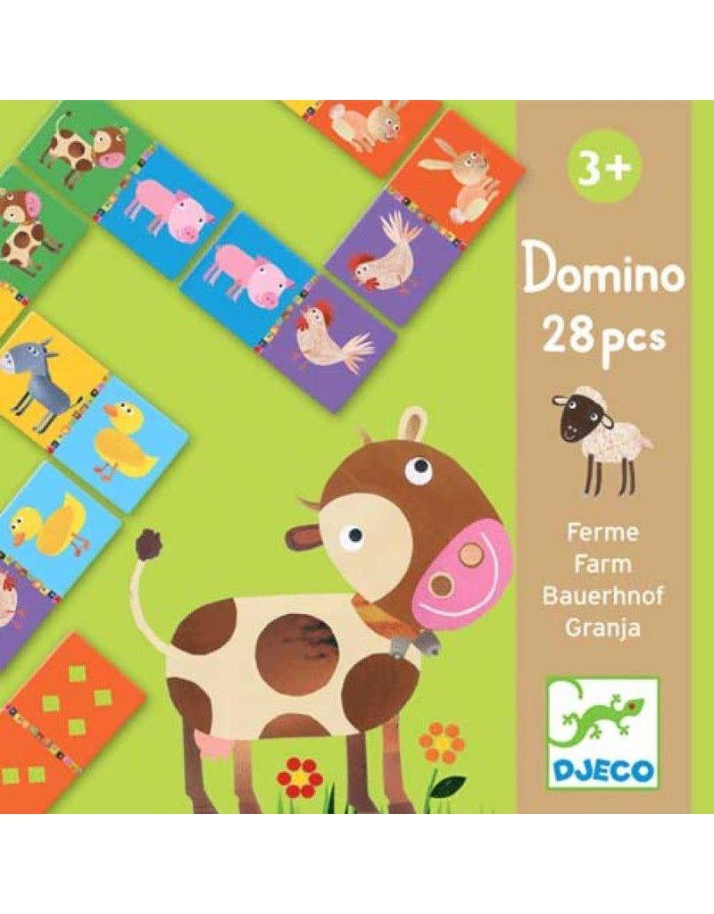 Djeco Domino Boerderijdieren