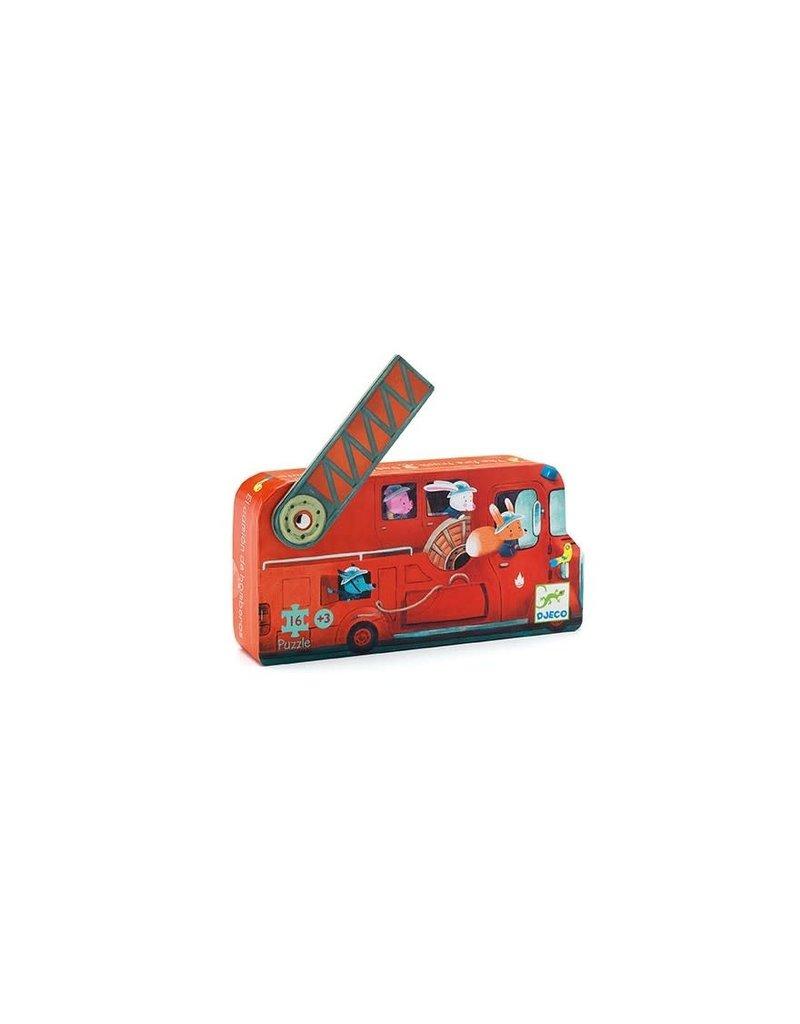 Djeco Puzzel Brandweerwagen 16 Stukjes