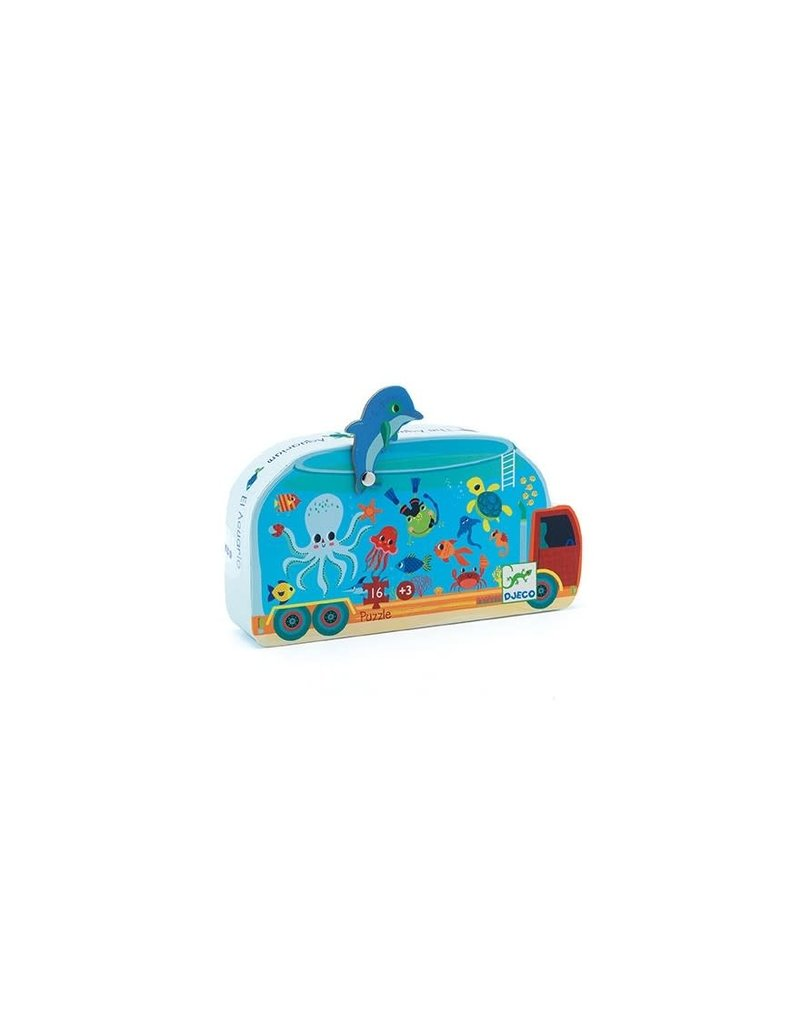 Djeco Puzzel Aquarium 16 Stukjes