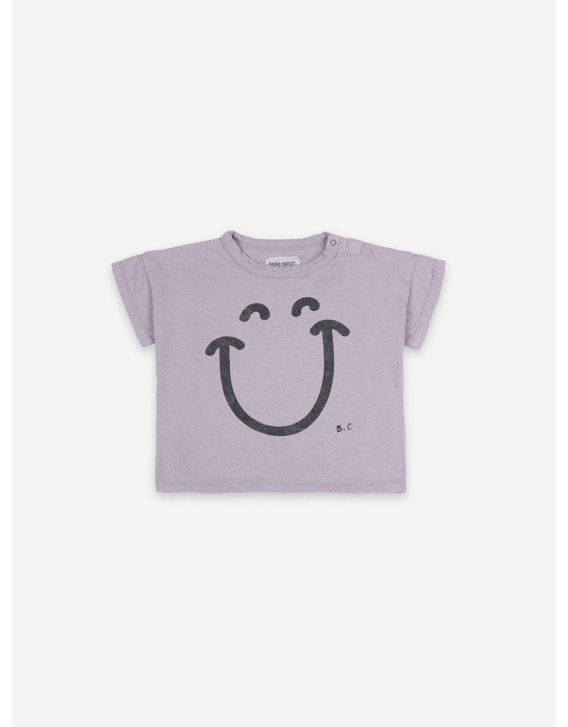 Bobo Choses Big Smile Lila Short Sleeve T-shirt