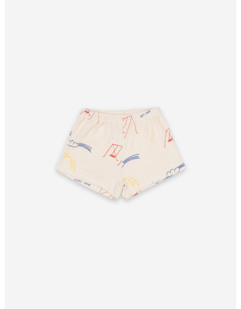 Bobo Choses Playground All Over Terry Fleece Shorts