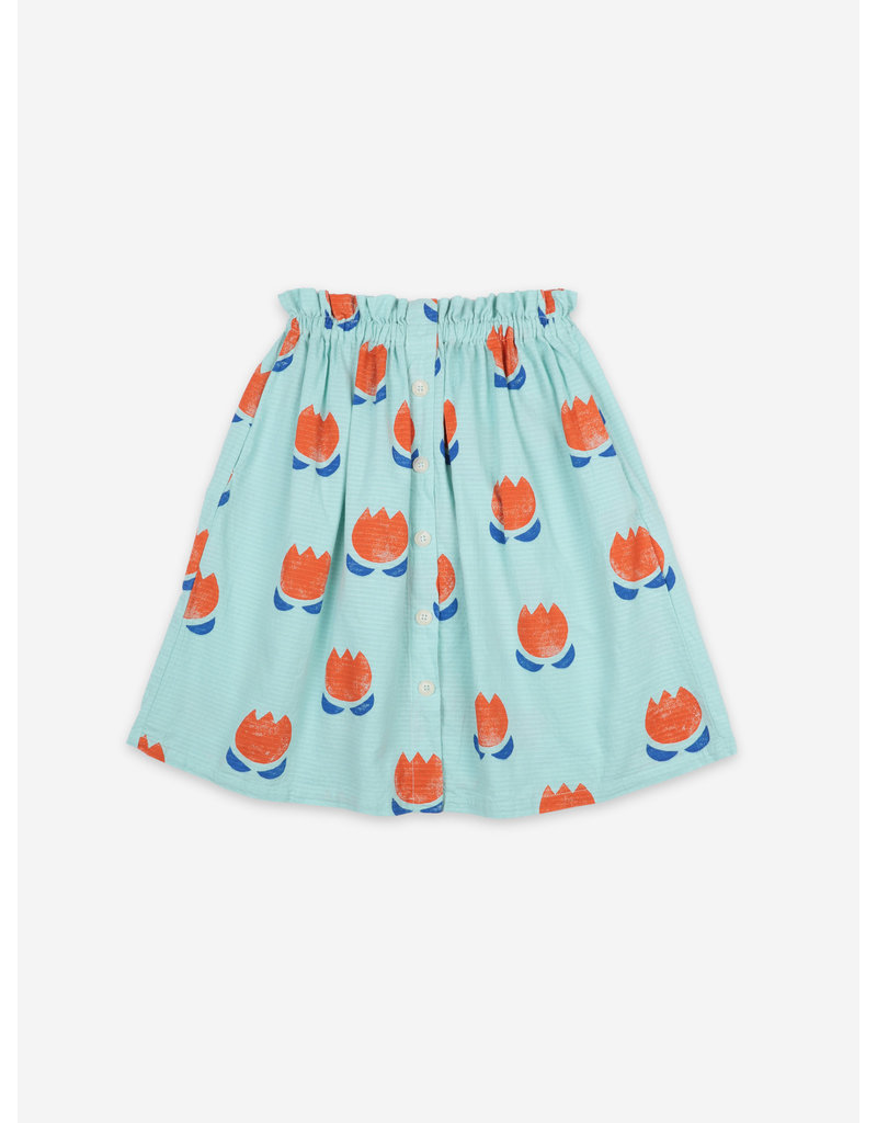 Bobo Choses Chocolate Flowers All Over Buttoned Midi