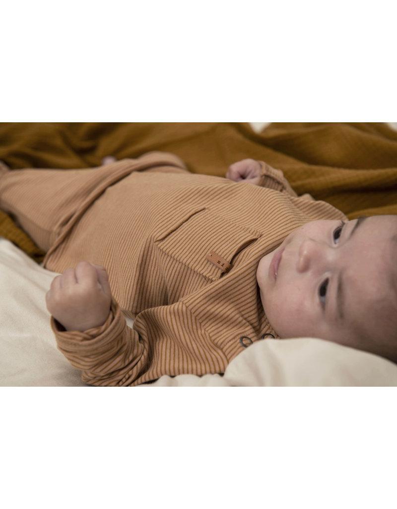 Nixnut Longsleeve Stripe Nude Caramel