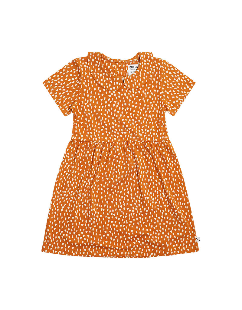 CarlijnQ Golden Sparkles - collar dress short sleeves