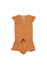CarlijnQ Golden Sparkles - ruffled jumpsuit