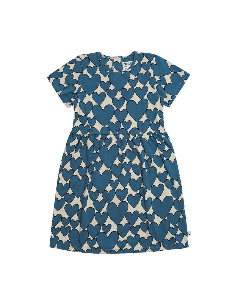CarlijnQ Hearts - dress short sleeves