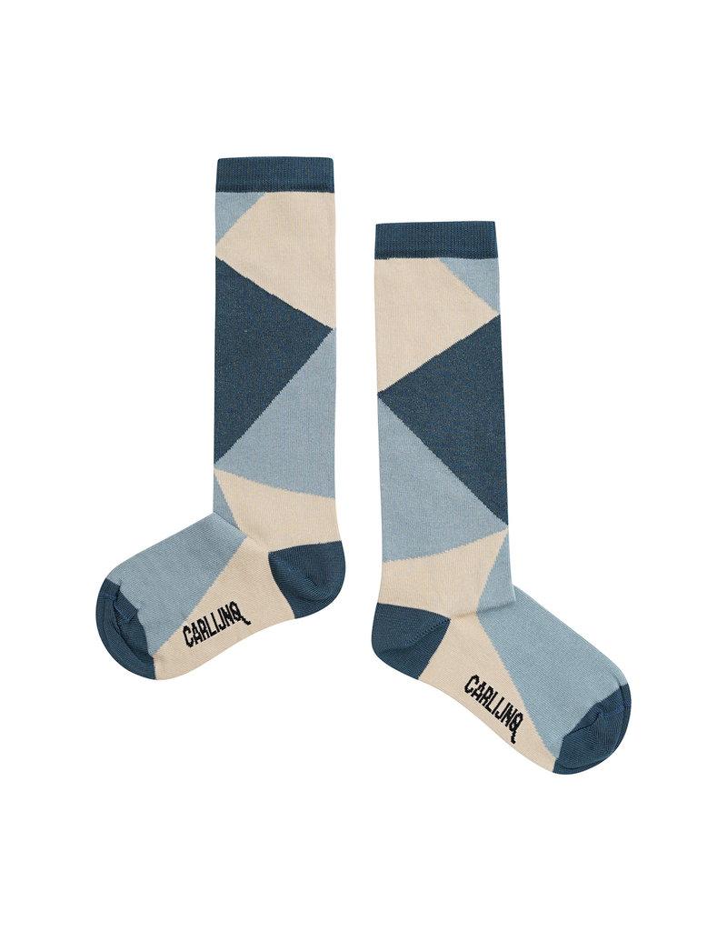 CarlijnQ Knee socks - color block
