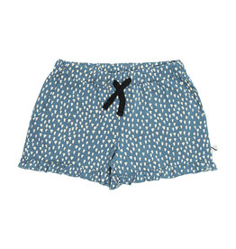 CarlijnQ Petrol Sparkles - ruffled shorts