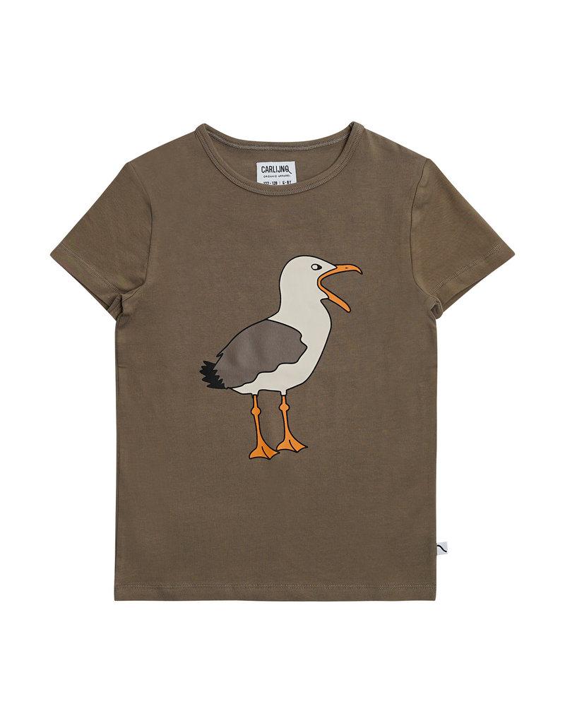 CarlijnQ Seagull - t-shirt with print