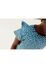 CarlijnQ Petrol Sparkles - ruffled dress