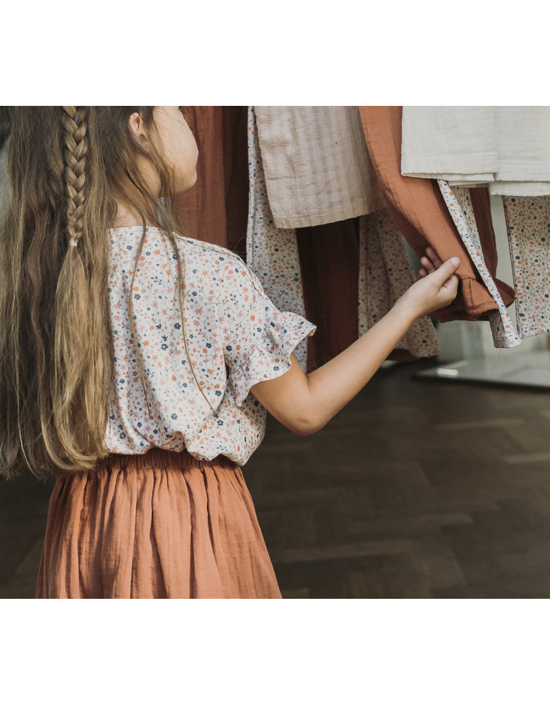 Petit Blush Lewis frill Skirt Sierra