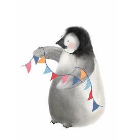 Getekenddoorzusje Pinguïn Kaart A6