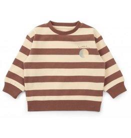 Konges Sløjd Lou Sweatshirt Striped Fig Brown 80