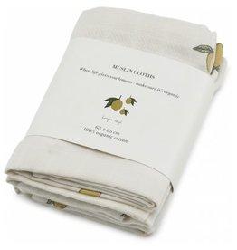 Konges Sløjd 3 Pack Muslin Cloth Lemon