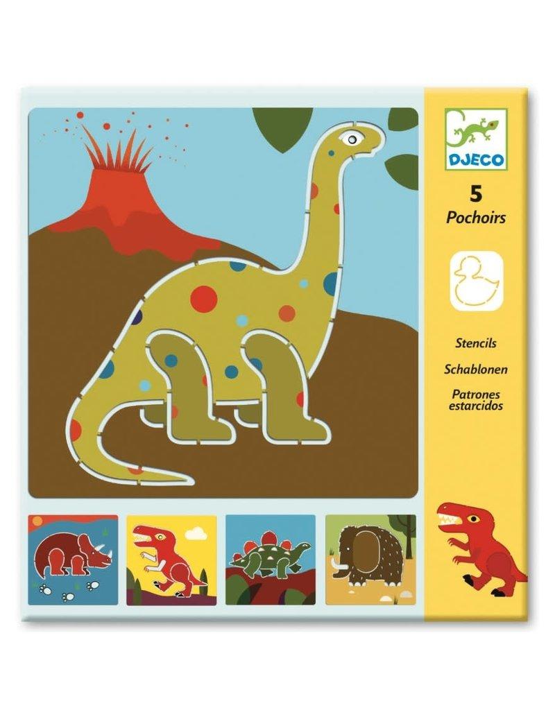 Djeco Tekensjablonen Dinosaurus