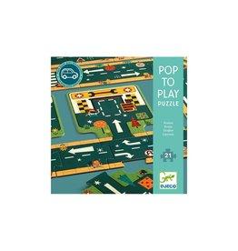 Djeco Autoweg puzzel / autobaan 21st.