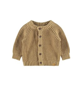 Lil' Atelier Knit Cardigan Apple Cinnamon