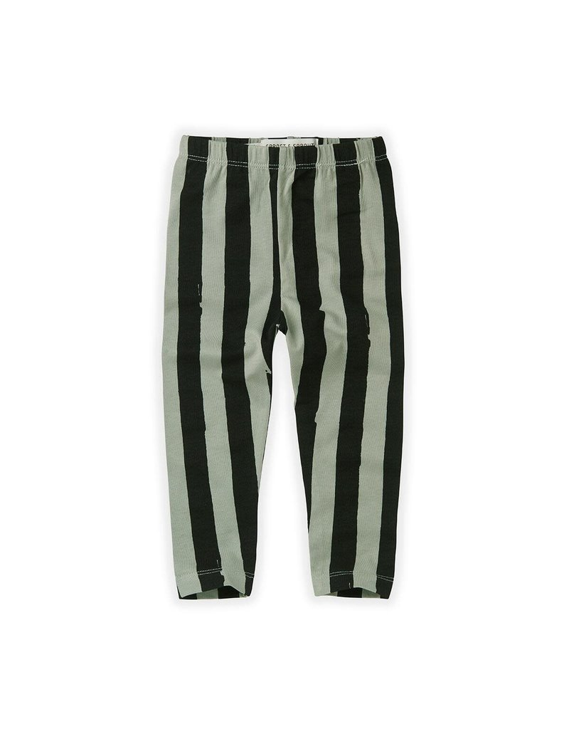 Sproet & Sprout Legging Painted Stripe Eucalyptus