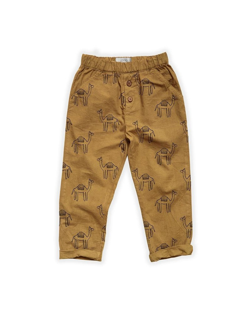 Sproet & Sprout Woven Pants Camel Print