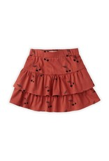 Sproet & Sprout Skirt Ruffle Print Cherry