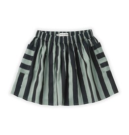 Sproet & Sprout Skirt Painted Stripe Eucalyptus