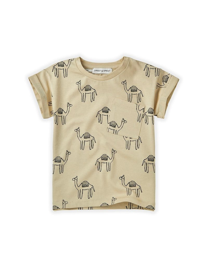 Sproet & Sprout T-shirt Print Camel Sesam