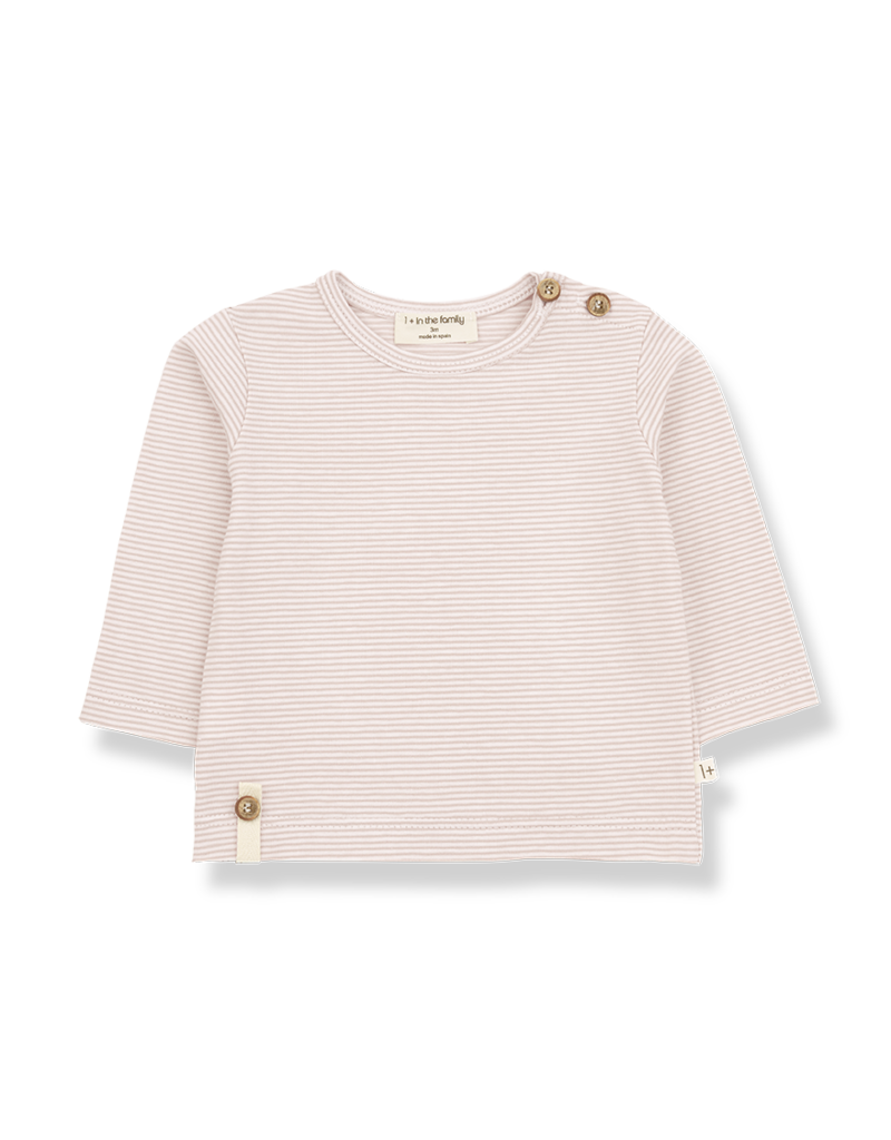 1+ in the family Odon long sleeve t-shirt nude/rose