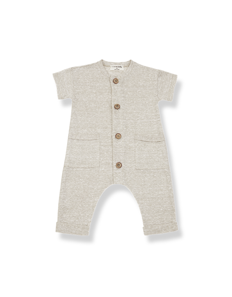 1+ in the family Enzo jumpsuit ecru