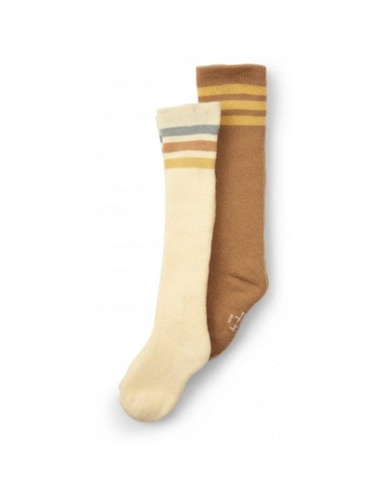 Konges Sløjd 2 Pack Long Socks Breen/Lemon Sorbet