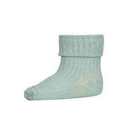 mp Denmark Cotton Rib Baby Socks Granite Green 3043