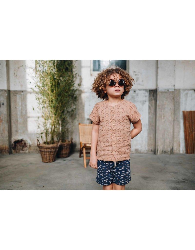 Blossom Kids Shorts Zig Zag - Royal Blue