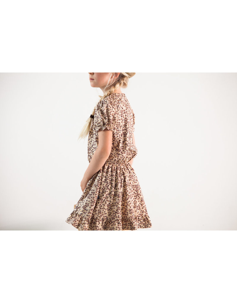 House of Jamie Frill Dress Golden Rose Dawn Blossom