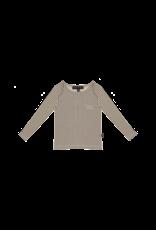 House of Jamie Long Sleeve Tee Charcoal Sheer Stripes