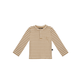 House of Jamie Rib Long Sleeve Tee Apple Cider Stripes