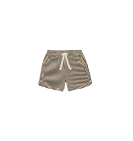 House of Jamie Gym Shorts Charcoal Sheer Stripes